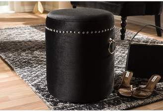 House of Hampton Crown Heights Nailhead Trim Ottoman House of Hampton