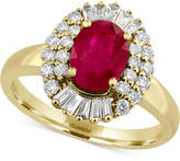 Effy Amore by Certified Ruby (1-3/8 ct. t.w.) and Diamond (1/2 ct. t.w.) Statement Ring in 14k Gold, Created for Macy's