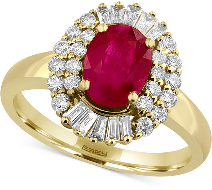 Effy Amore by Certified Ruby (1-3/8 ct. t.w.) and Diamond (1/2 ct. t.w.) Statement Ring in 14k Gold
