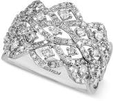 Effy EFFYandreg; Diamond Crown Ring (7/8 ct. t.w.) in 14k White Gold