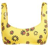 Solid & Striped The Elle Daisy-print Bikini Top - Womens - Yellow Print