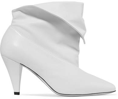 Givenchy Fold-over Leather Ankle Boots - White
