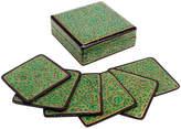 One Kings Lane Vintage Jade Kashmiri Coaster Set