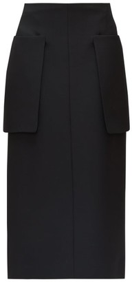 The Row Jenna Patch-pocket Crepe Pencil Skirt - Black