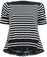 Sacai striped knitted top - women - Cotton/Rayon/Cashmere/Polyester - 1
