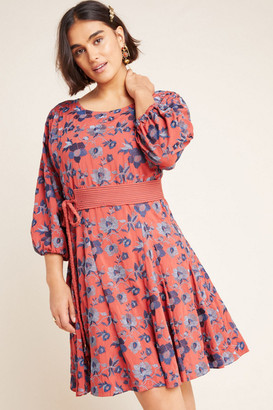 Anthropologie Juniper Embroidered Swing Dress