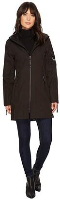 Ilse Jacobsen Soft Shell 33 Functional Rain Coat (Black) Women's Coat