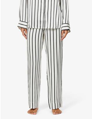 ASCENO London striped silk-satin pyjama bottoms