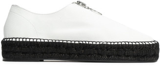 Alexander Wang Zip-detailed Textured-leather Espadrille Sneakers