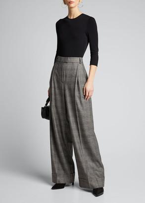 Alaia 3/4-Sleeve Open-Back Bodysuit