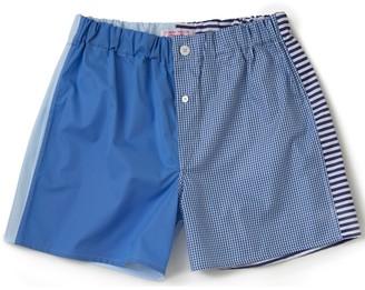 Emma Willis Blue Patchwork Boxer Shorts