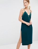 Finders Keepers Slip Dress With Lace Up