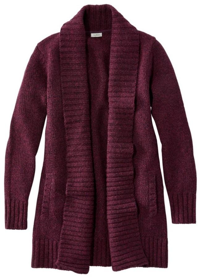 Women's L.L.Bean Classic Ragg Wool Sweater, Open Cardigan