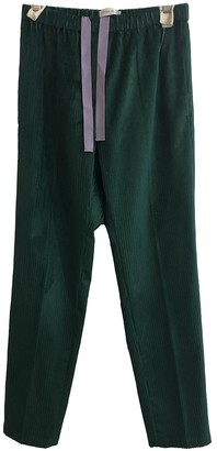 Christian Wijnants Green Cotton Trousers