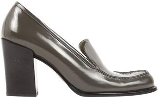 Prada Grey Patent leather Flats