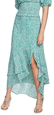 1 STATE Folk Silhouette Floral Maxi Skirt