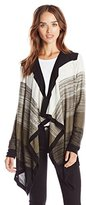 Design History Women's Colorblock Marled Cardigan