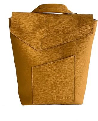 Kartu Studio Natural Leather Backpack/Handbag ''Cardamom'' Mustard Yellow