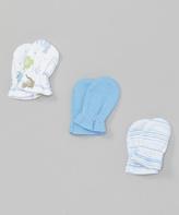 SpaSilk Blue Mitts Set