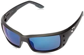 Costa del Mar Permit Sunglasses Matte /Blue Mirror 580Plastic