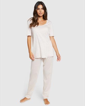 Hanro Laura Short Sleeve Pajama