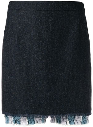 Thom Browne layered mini skirt