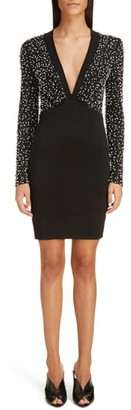 Givenchy Beaded Long Sleeve Dress