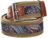 Etro Canvas Leather-Trimmed Belt