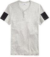 William Rast Men's Mixed-Media Henley T-Shirt