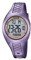 Calypso Unisex Digital Watch with LCD Dial Digital Display and Purple Plastic Strap K5668/5