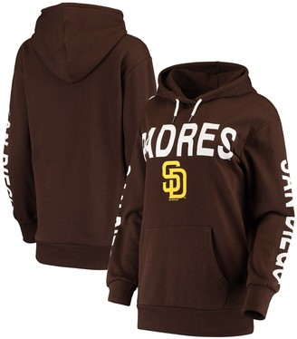 G Iii Women's G-III 4Her by Carl Banks Brown San Diego Padres Extra Inning Colorblock Pullover Hoodie