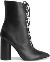 Sigerson Morrison Lace-up leather ankle boots