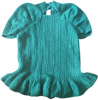 Oscar de la Renta Green Cashmere Knitwear for Women