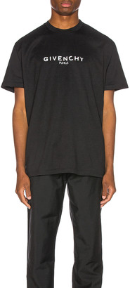 Givenchy Distressed Logo Tee in Black | FWRD