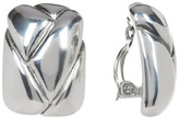 Simon Sebbag Sterling Silver Square Braided Clip-On Earrings