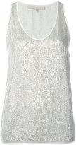 Vanessa Bruno metallic knit tank top - women - Polyester/Viscose - 34