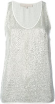 Vanessa Bruno metallic knit tank top - women - Polyester/Viscose - 40