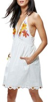 Free People Women's Love Flowers Halter Minidress