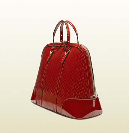 Gucci Nice Microguccissima Patent Leather Top Handle Bag