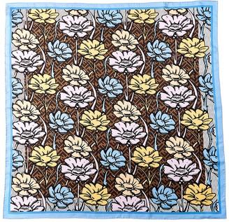 Fendi Flowers Foulard Silk Scarf