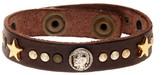 Diesel Abrel Genuine Leather Bracelet