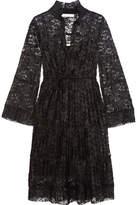 See by Chloe Plissé-lace Dress - Black