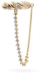 Yvonne Léon Draped-chain Diamond & 18kt Gold Ear Cuff - Yellow Gold