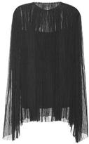 The Row Bapel Pleated Silk Top