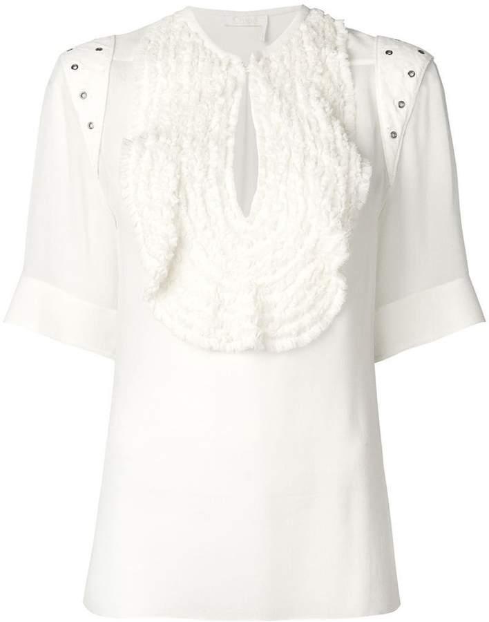 Chloé ruffled bib blouse