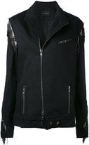 Baja East embellished biker jacket - women - Cotton - I