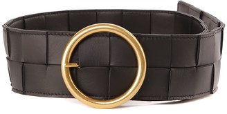Bottega Veneta Black Braided Leather Belt