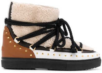 INUIKII Shearling Ankle Boots