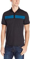 Calvin Klein Men's Short Sleeve 3 Button Engineered Polo