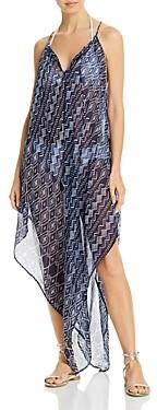 Echo Shibori Handkerchief Dress Swim Cover-Up